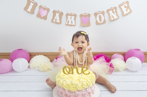 Manoela 11 meses, smash the cake