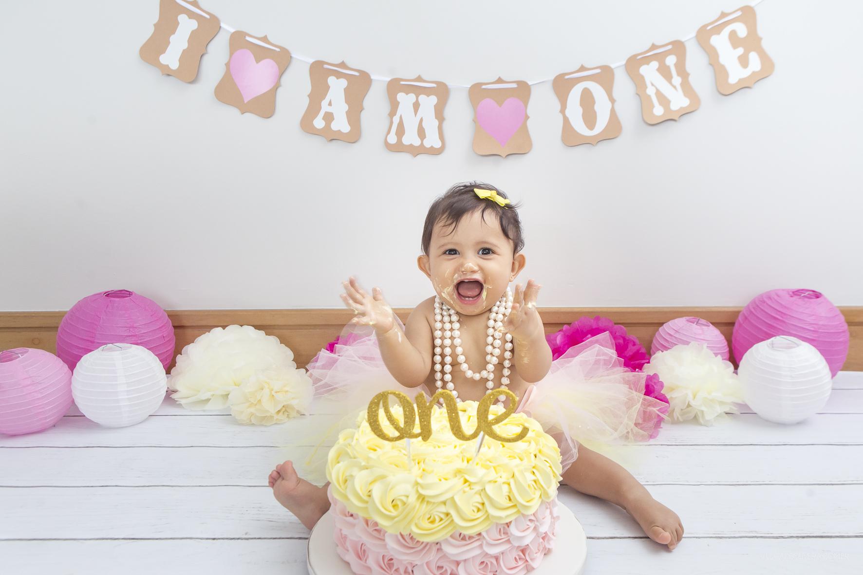 Manoela 11 meses, smash the cake